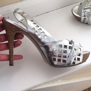 Shoes - Silver Guess heels